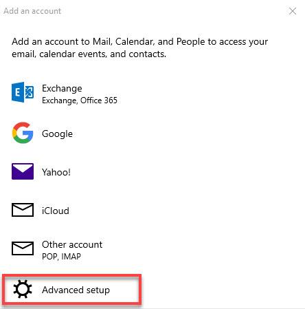Internet Mail Option