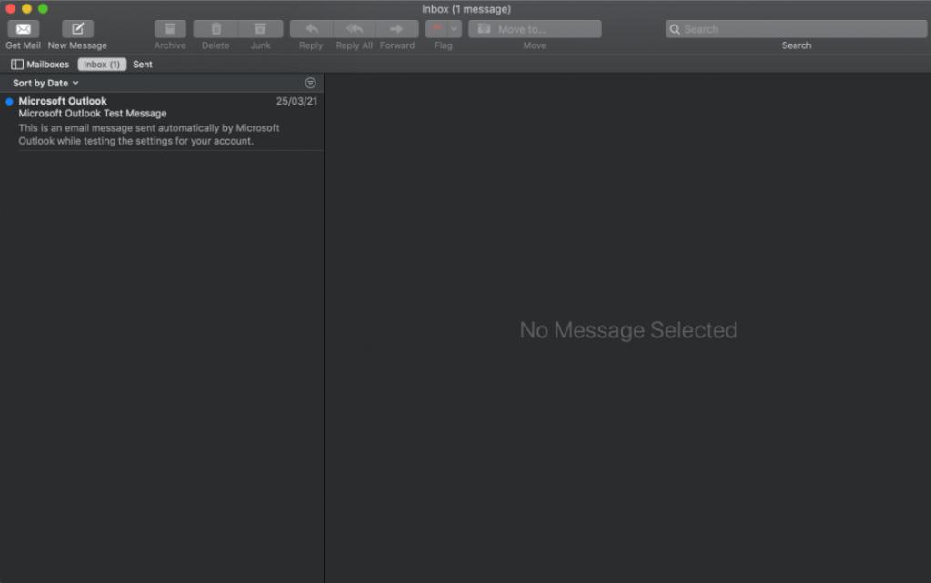 Mac mail inbox
